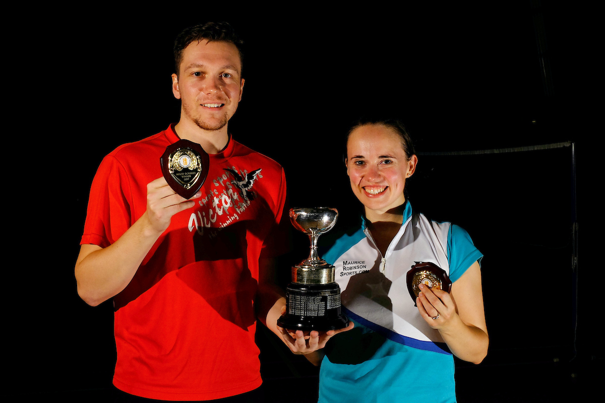 Warwickshire Restricted Mixed Doubles Winners 2018 - Ben Stawski and Catherine Grant